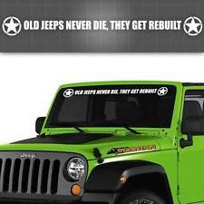 "Jeep Windshield Decal, Jeep Window Sticker, It's a Jeep thing - 42"" x 4"""