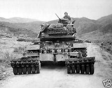 Vietnam War US Tank Mounted Mine Roller Highway 19 Photo Reprint 5x4 Inch