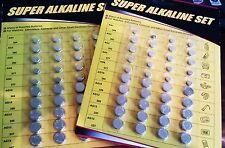 80 Super Cell Alkaline Coin Button Batteries for Watch Calculator Electronics