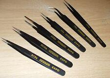 Expo 79032 Conjunto de 6 Pinzas de acero inoxidable recubierto de epoxi/anti magnético