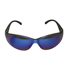 Blue Mirrored Double Lens Safety Glasses