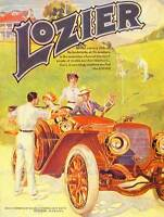 ADVERT CAR AUTOMOBILE CLASSIC 1912 LOZIER DETROIT FINE ART PRINT POSTER BB6643