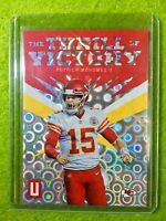 PATRICK MAHOMES PRIZM CARD JERSEY #15 CHIEFS SP  2019 Panini Unparalleled GROOVE