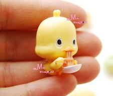 1/12 Dollhouse Miniature lovely Yellow Duck Eat Noodles 2PCS
