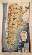 CARTE DE LA REPUBLIQUE D'ARGENTINE  SIGNÉ PENNACCA