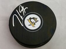 Jake Guentzel Pittsburgh Penguins Signed NHL Logo Puck LOM COA (PK14)