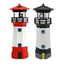 Solar Powered LED Deck Post Lighthouse Light Garden Fence Outdoor Lawn LampPorch