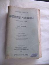 Histoire générale du droit français public et privé des origines à 1815 - T 1