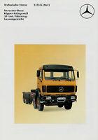 Prospekt Mercedes 3333 K 8x4 Kipper Technische Daten 9/86 Lkw Broschüre 1986