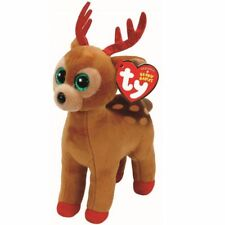 TY BEANIE BABIES BOOS TINSEL REINDEER CHRISTMAS 2017 PLUSH SOFT TOY NEW