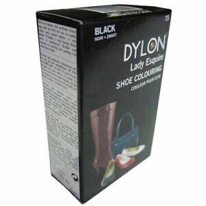 DYLON LADY ESQUIRE BLACK LEATHER & SYNTHETIC PERMANENT DYE SHOES BOOTS BELTS ETC