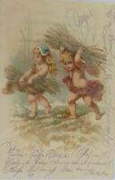 """ Children, Wood "" 1902, Rhinestones (9531)"