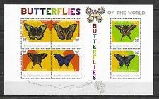 SIERRA LEONE   Butterflies Mini Sheet of 6 MINT NH