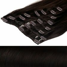 Dunkelbraune Lange Glatte Haarverlängerungen