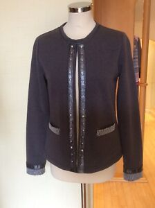 Just White Jacket Size 10 BNWT Grey With Pearl And Silver Mesh RRP £123 Now £45