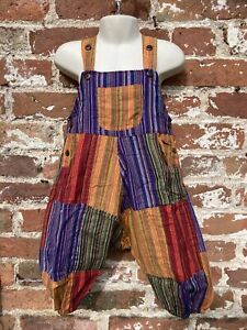 Kids/toddler patchwork dungarees age 2 -3 Years handmade hippie, boho, festival
