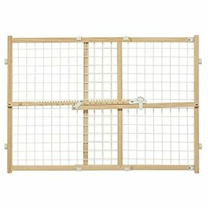 Midwest Wire Mesh Pet Safety Gate 24 Inches Tall & Expands 27-41.5 Inches Wide