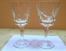 "Waterford Crystal Ashling Wine Glasses Claret Cut Stemware 5 7/8"" - set of 2"