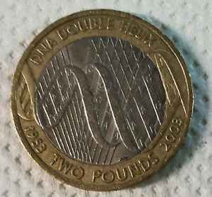 Collectable £2 coin, DNA Double Helix design. Two Pound