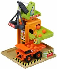 Tomica Town Play Charge Series Tower Crane Construction Site F/S w/Tracking# NEW