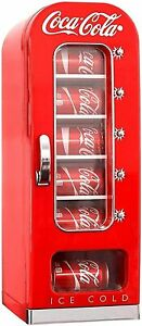 New Koolatron Coca-cola Retro Vending Machine Style 10 Can Mini Fridge/cooler UK