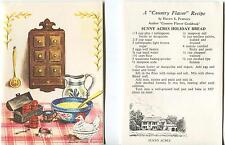 VINTAGE FRUIT HOLIDAY BREAD CHICKEN MOLD SPICE JARS KITCHEN RECIPE CARD PRINT