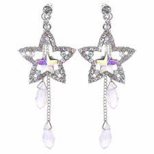 Star Crystal Long Drop Dangle Earring Tassel Chain Earrings