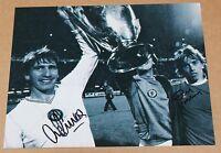 """TONY MORLEY & GORDON COWANS Aston Villa 1982 HAND SIGNED 10"""" X 8"""" Photo COA"""