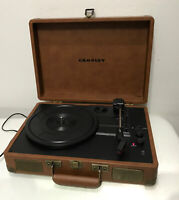 crosley cr8005d-br Vintage Brown Suitcase Portable Record player bluetooth