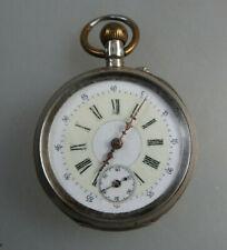 Offene Herrentaschenuhr Silber um 1900 (60299)