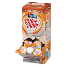 Coffee-mate Liquid Coffee Creamer Vanilla Caramel 0.375 oz Cups 50/Box 4 Box