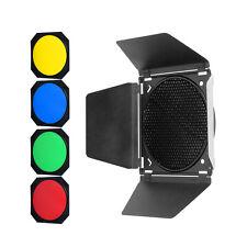 Godox Pro puerta de granero +4 filtros de color para Godox QT600IIM/QT400IIM