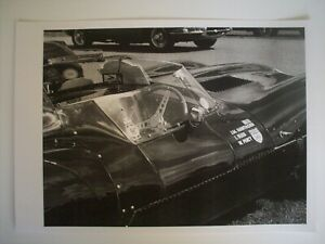 LIMITED EDITION A3 PRINT JAGUAR D-TYPE,FROM ORIGINAL PHOTOGRAPH.ONE OF 30.