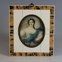 Miniature Portrait of Madame Victoire in Beautiful frame 19th Century