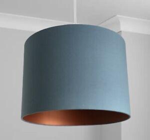 New HQ Stunning Classic HQ Matt Bronze Finish Matt Blue Lamp Shade Pendant 30 Cm