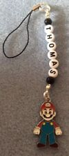 1 SUPER MARIO BROS BAG LUNCHBOX  mobile ds ZIP CHARM PERSONALISED ANY NAME