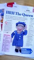 Knitting pattern for The Queen doll Royal majesty wedding