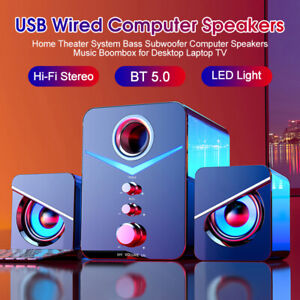 USB Wired / Wireless Computer Speakers PC Laptop Home Theater System Subwoofer