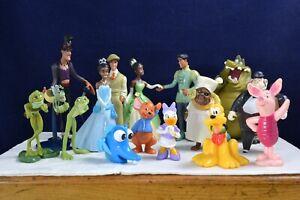 Lot of 16x Walt Disney PVC Figures Cake Toppers Princess Prince Frog Toy Bundle