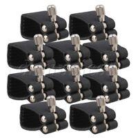 10PCS Alto Sax Saxophone Artificial Leather Ligature Fastener Black Durable