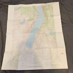"Vintage 1964 Dept. Of Interior Map - Freemont Lake South Wyoming - 22"" x 27"" Top"