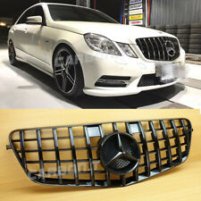 2010-2013 ALL Gloss Black Front Grille Fit Mercedes Benz GT Look E-Class W212 4D