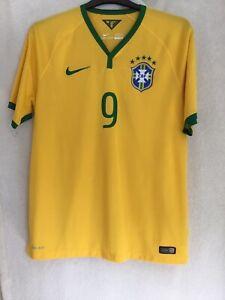 Mens Nike Brazil 2014 World Cup Shirt Ronaldo #9 Size Large