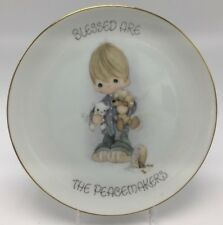 """Precious Moments Collectible Plate 1978 Blessed Are The Peacemakers 7-1/4"""""""