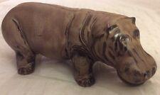 Hippopotamus Blue Mountain Pottery Figurine BMP Statue Hippo Vintage Animal Art