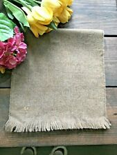 VINTAGE Pierre Cardin Men's Scarf Tan CLASSIC! MADE IN FRANCE