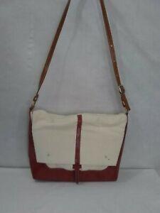 NEW Homemade Unbranded Canvas & Leather Messenger Shoulder Bag *See Description*