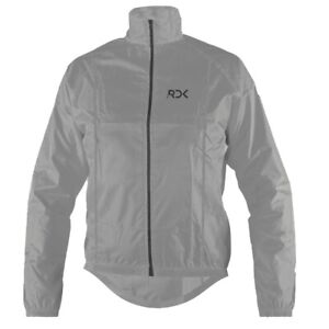 Men Cycling Jacket Highly Visible Windproof Showerproof Breathable Grey S TO 4XL