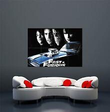 Rápido Y Furioso 4 RGB gigante arte cartel impresión WA408