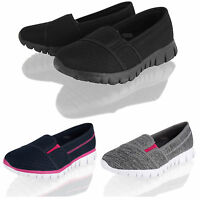 Womens Ladies Slip on Sports Gym Lightweight Walk Trainers Shoes Size